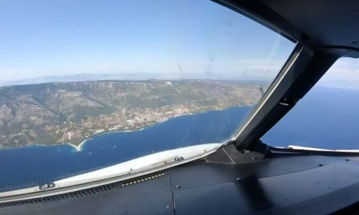 VIDEO: Cockpit view of first-ever Airbus A319 taking off and landing at Brač Airport