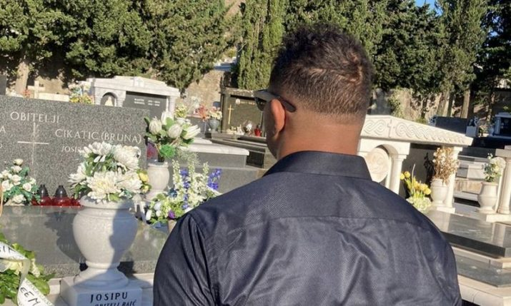 UFC star Alistair Overeem visits grave of Croatian fighting legend Branko Cikatić in Croatia