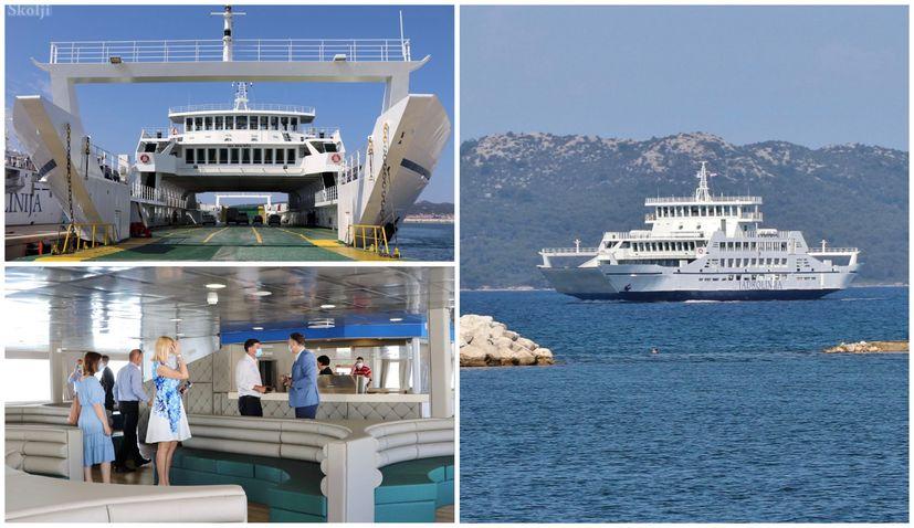 PHOTOS: Jadrolinija puts new €3 million ferry between Zadar and Ugljan island in operation