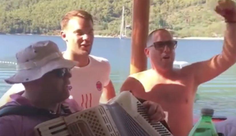 VIDEO: German keeper Manuel Neuer singing 'Lijepa li si' in Croatia