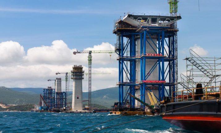 Pelješac Bridge construction going according to plan
