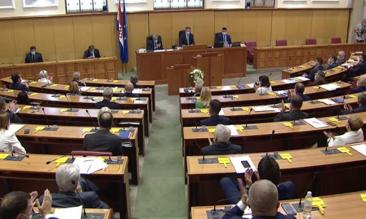 New Croatian government voted in