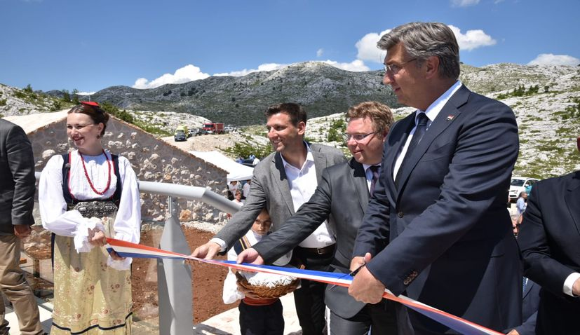 Skywalk in Biokovo Nature Park formally openedby officials