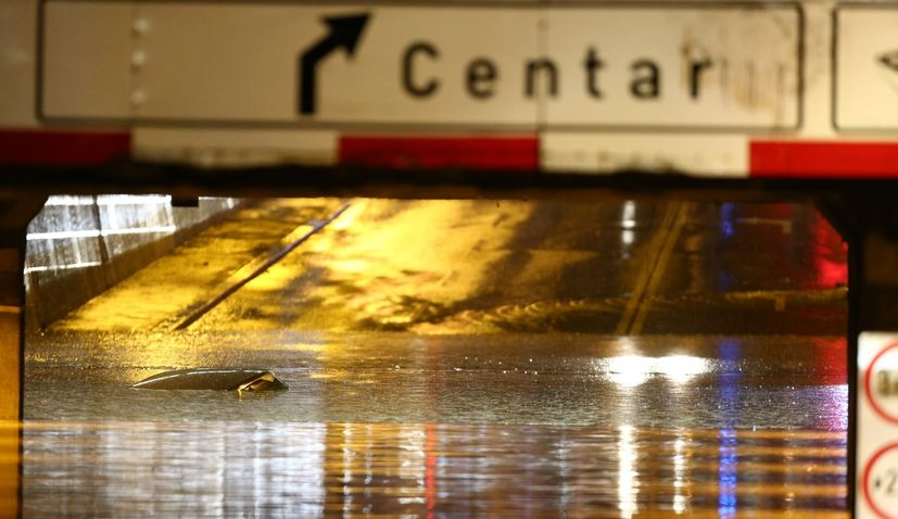 VIDEO: Big floods in Zagreb as storm hits