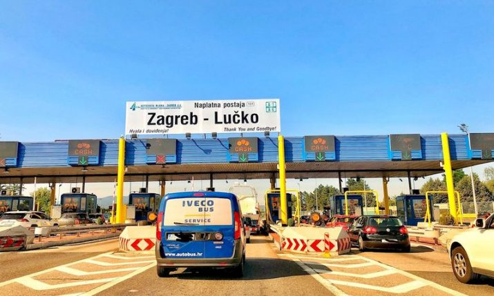 Croatian motorways see 30% drops in vehicles, toll collection