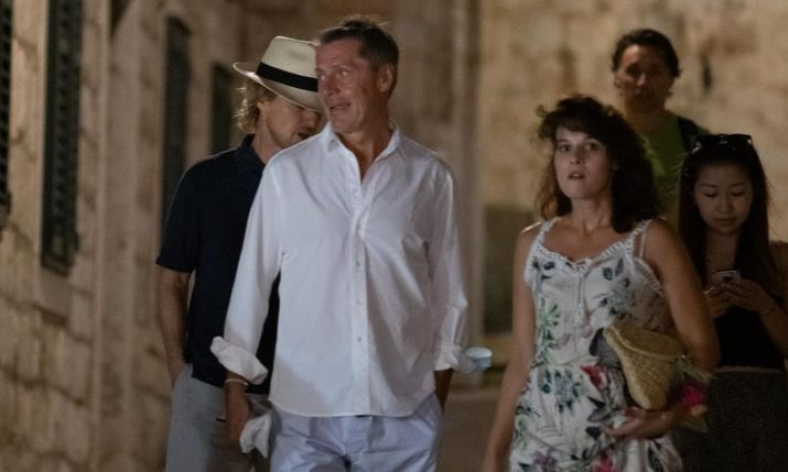 Actor Owen Wilson holidaying in Croatia