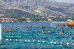 PHOTOS: Croatian water polo team play special match off Korčula island