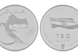 Commemorative silver coins to mark the 25th anniversary of operations Bljesak & Oluja issued