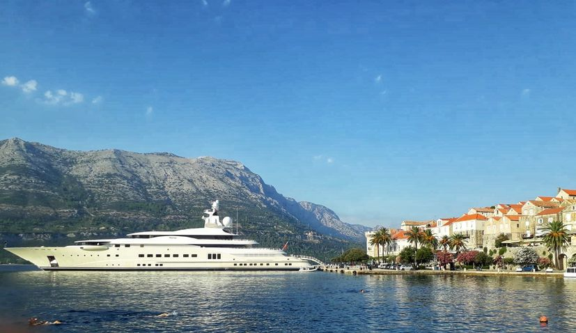 Croatia is among the most popular destinations in the world this month for holidaymakers on board mega-yachts.