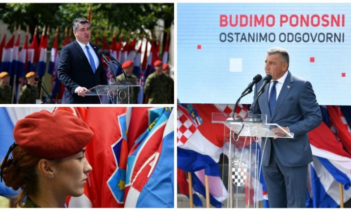 Ante Gotovina and President Milanovic address Knin ceremony on 25th anniversary of Croatia's liberation