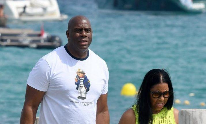 Basketball great Magic Johnson holidaying on the Croatian coast