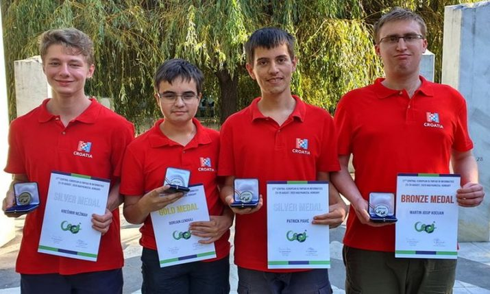 Croatian students win 4 medals at Informatics Olympiad