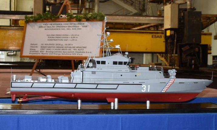 Work on four patrol boats for Croatian Navy continues at Brodosplit dock