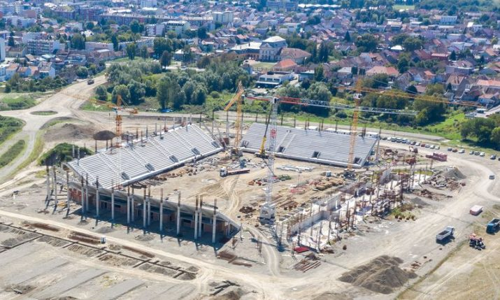PHOTOS: Osijek's new football stadium taking shape