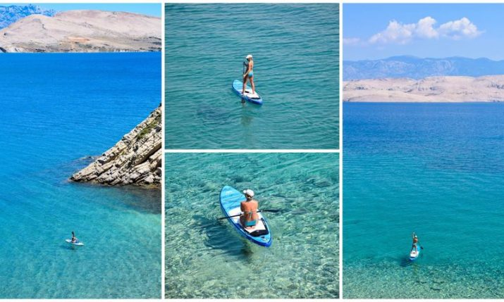 PHOTOS: Stand up paddleboarding tours of Pag a hit this summer