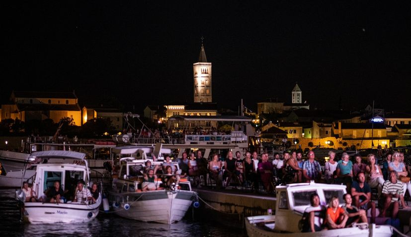 PHOTOS: Rab Film Festival takes to the sea as crowd watches from boats