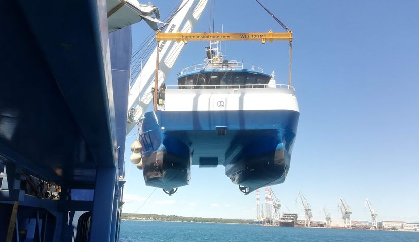 Pula shipyard Tehnomont launch vessel for Norwegian client