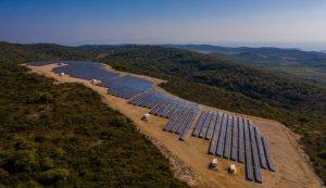 Solar power plant vis croatia