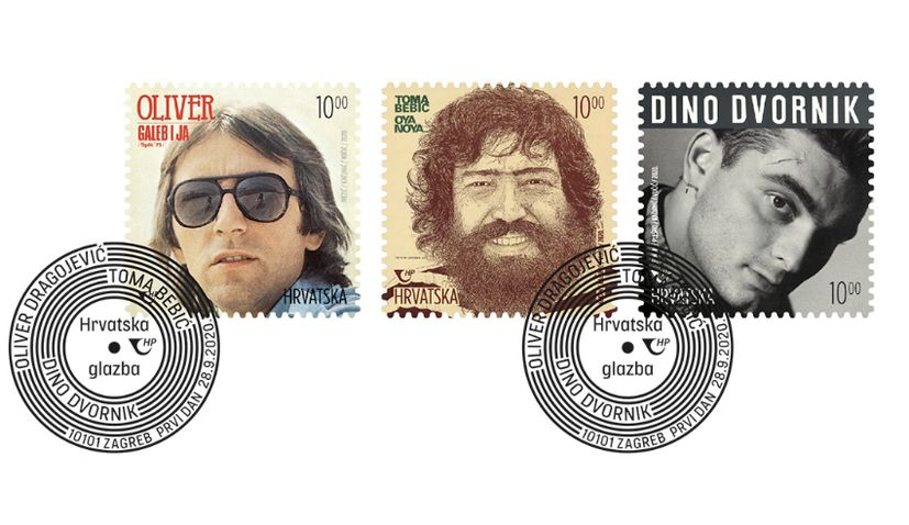 Legends of Croatian music on new commemorative stamps