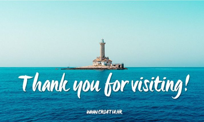 Campaign thanking foreign tourists for visiting Croatia launched by tourist board