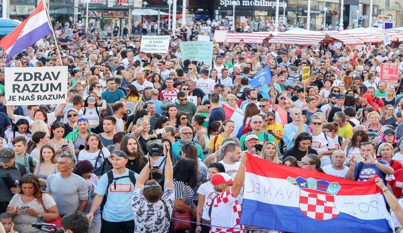 Anti-COVID Freedom Festival held in Zagreb on Saturday