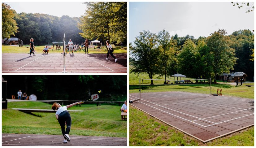 PHOTOS: New badminton court opened at popular Barać Caves with first tournament