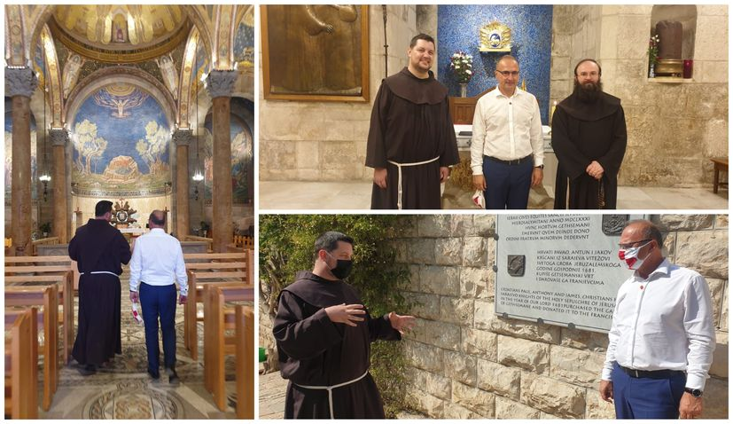 Croatian foreign minister meets with Croatian Franciscans in Jerusalem