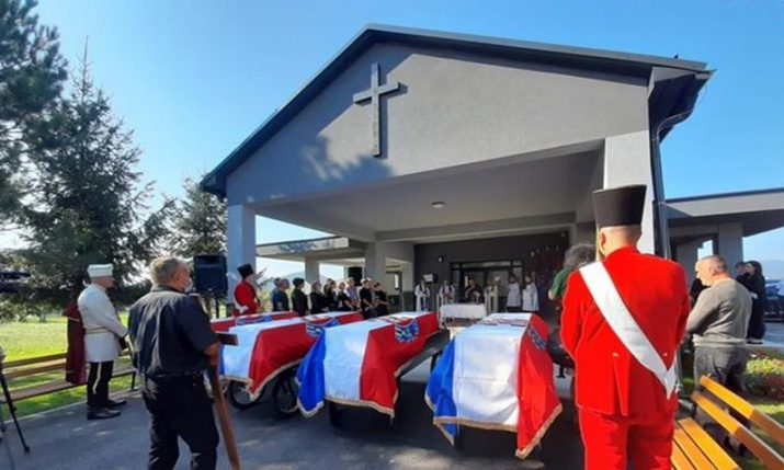 Remains of 15 Croat civilians killed in 1946 buried