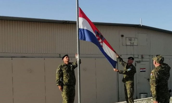 12th Croatian contingent's participation in Resolute Support ends
