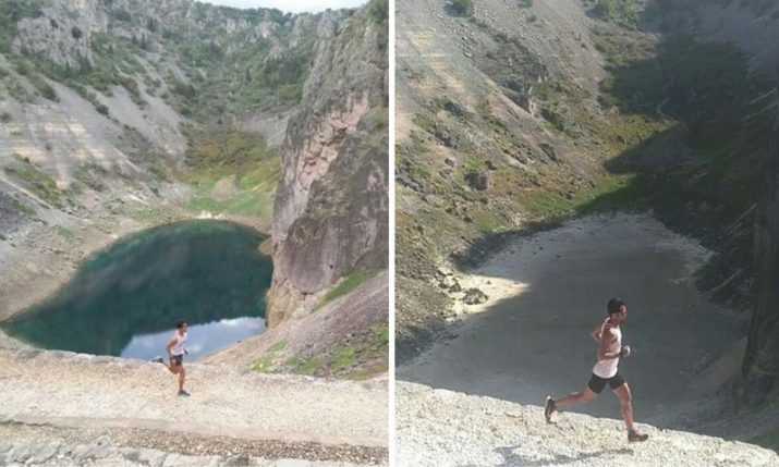 PHOTOS: Blue Lake in Imotski completely dries up