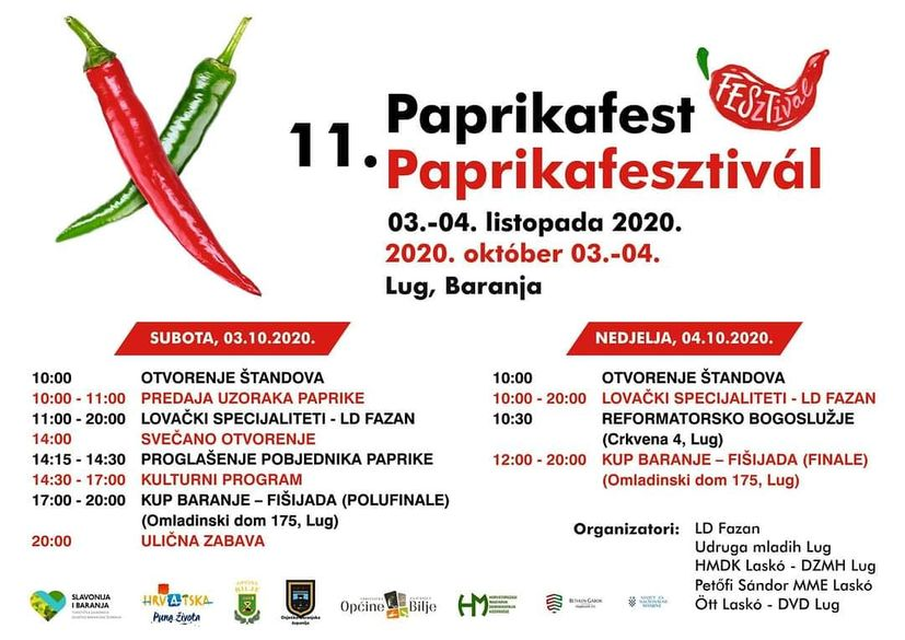 Croatian festival baranja paprikafest