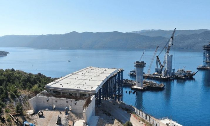 Peljesac Bridge: Full steam ahead for construction with record 725 workers on site