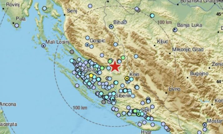 Earthquake measuring 4.2 hits Gračac in Croatia, felt across Dalmatia