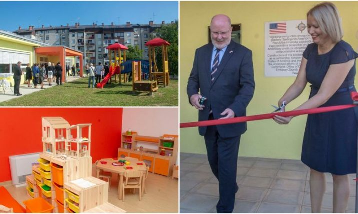 PHOTOS: State-of-the-art kindergarten co-financed by US opened in Sisak