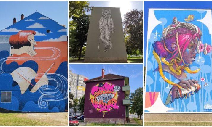PHOTOS: World's top street artists create murals in Vukovar during VukovART festival