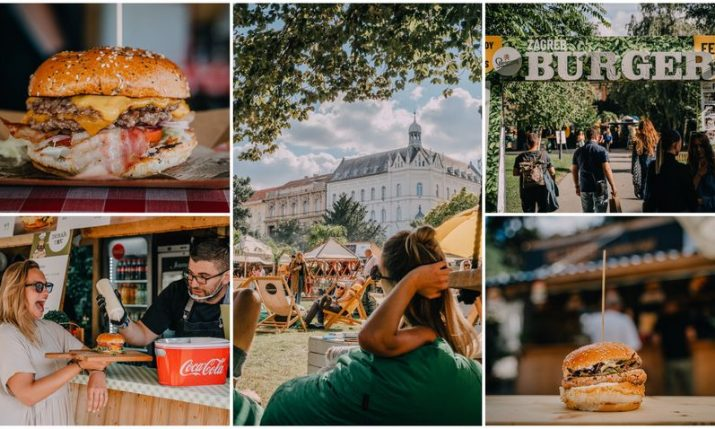 PHOTOS: Grič cannon opens Zagreb Burger Festival on Strossmayer Square