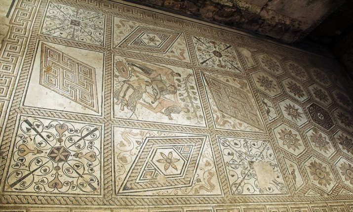PHOTOS: Roman mosaic hidden in the Croatian city of Pula