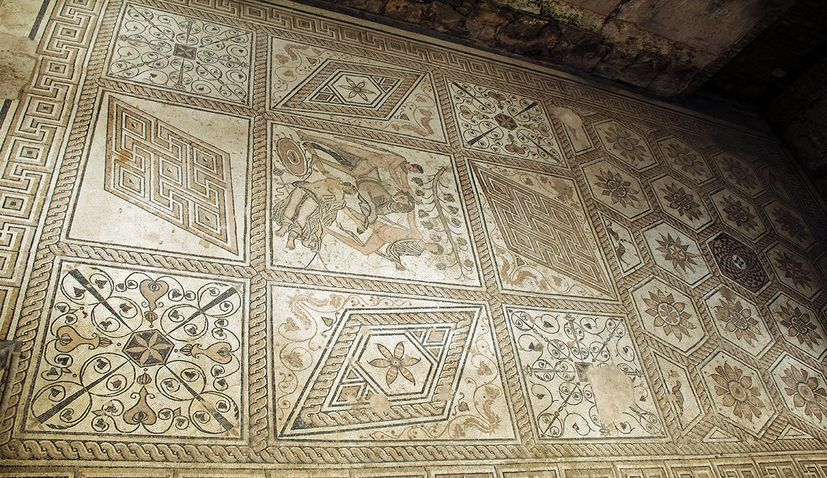 PHOTOS: Roman mosaic hidden in the Croatian city of Pula