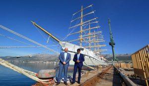 The Ambassador of the Republic of India to Croatia, H. E. Mr. Raj Kumar Srivastava visited Croatian shipyard Brodosplit in Split last Wednesday.