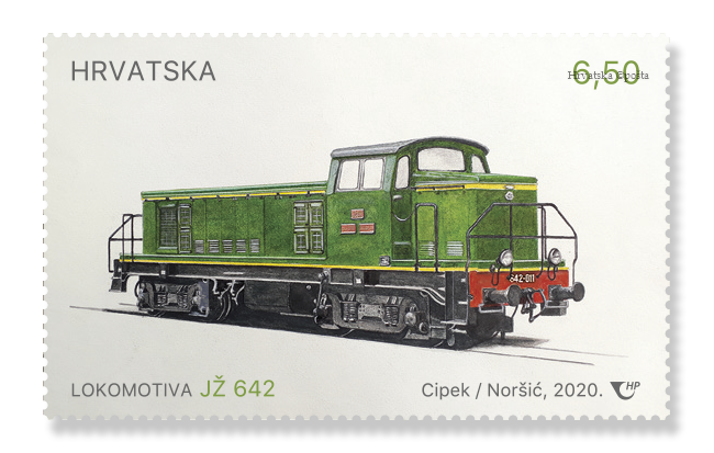 train stamp croatia