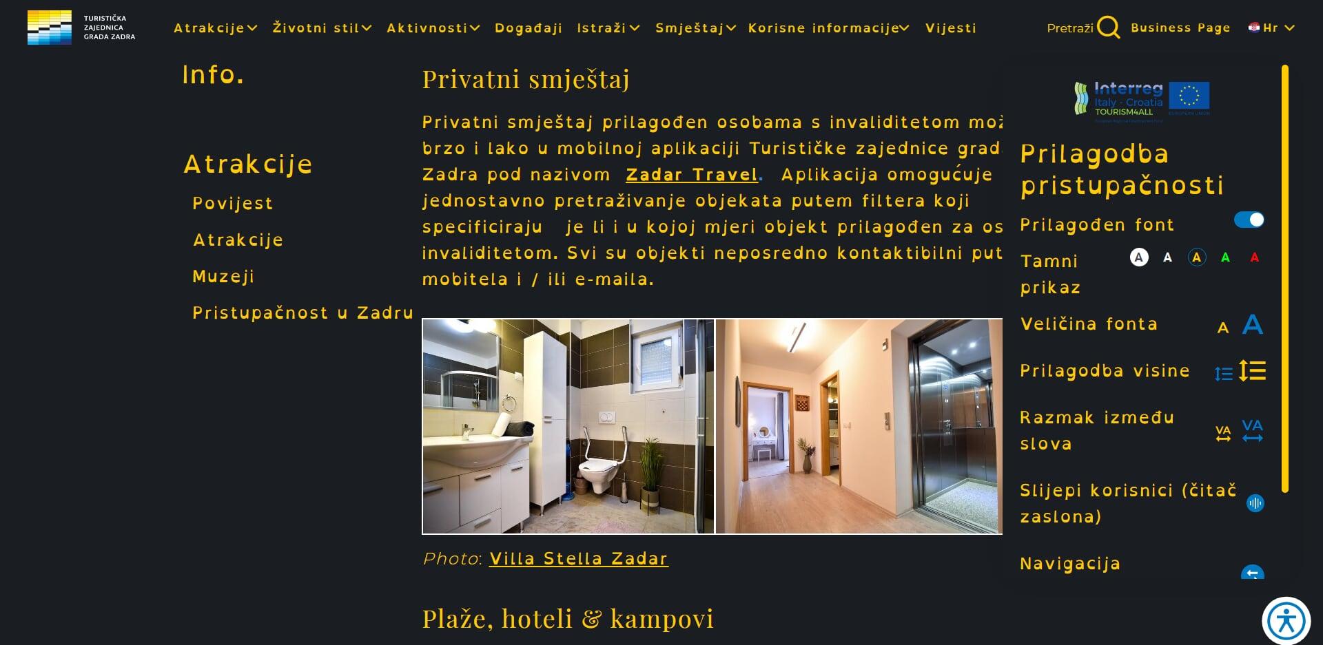 zadar tourist board website