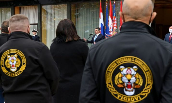 Members of Croatian 1st Guard Brigade 'Tigers' decorated by president
