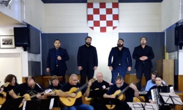 Kiwi Tongan & Samoan band The Shades perform touching Croatian song