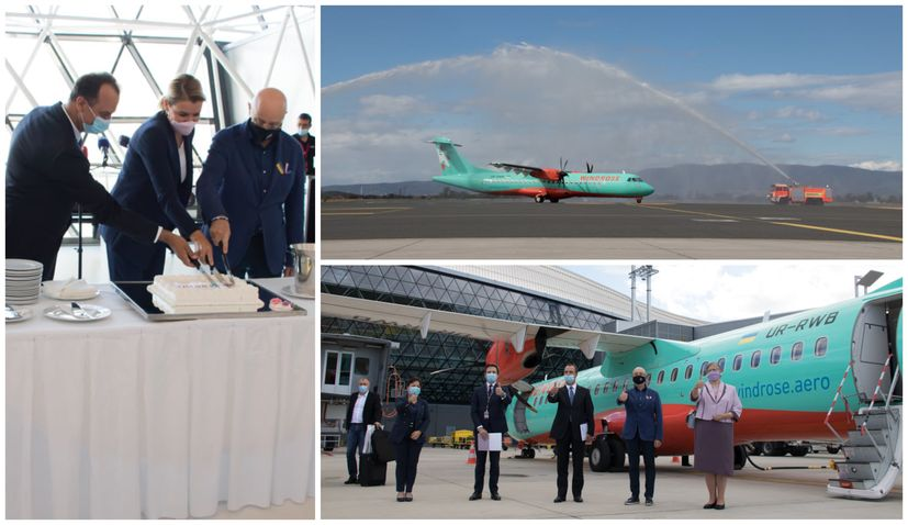 PHOTOS: First Zagreb-Kyiv flight in over 30 years lands
