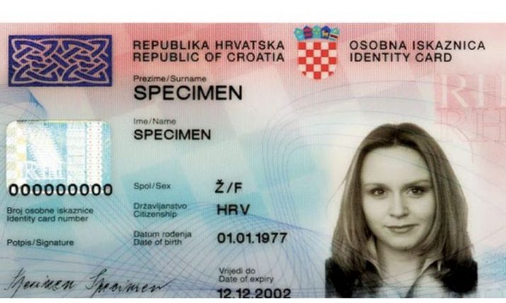 New Croatian identity cards  to be valid for 5 years as act amended