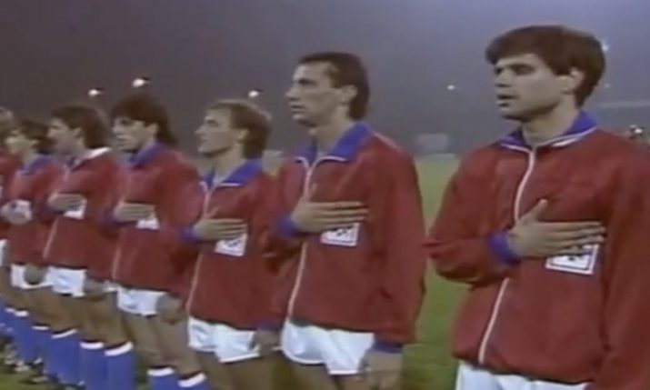 30 years ago today Croatia play USA in first football official of the modern era