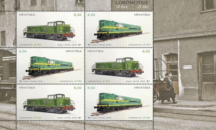 First diesel-electric locomotives in Croatia motif of new commemorative postage stamps