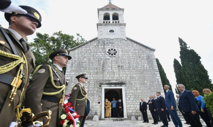 Commemoration for victims of WWII Chetnik-fascist crime in Croatian village of Gata held