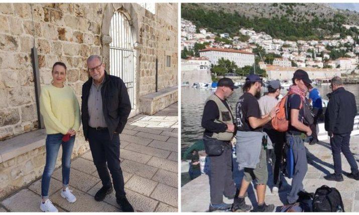 "Emmy award-winner Peter Greenberg filming ""The Travel Detective"" in Dubrovnik"