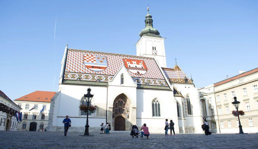 Zagreb st marks square movement